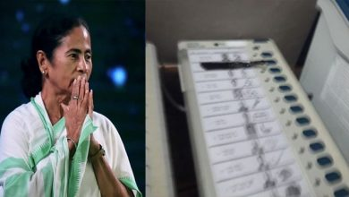 Photo of is this Democracy ? Trinamool hiding BJP logo in EVM using Black Tap