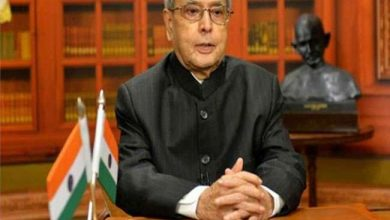 Photo of Former president Pranab Mukherjee shortly to receive Bharat Ratna award.