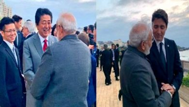 Photo of Only Modi at G-7 meeting! The world's biggest leaders lined up to meet with Narendra Modi.