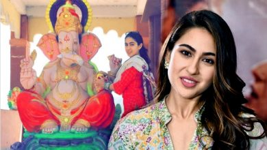 Photo of Bollywood actress Sara Ali Khan's Ganesh Puja came into controversy, as hardliners got angry.